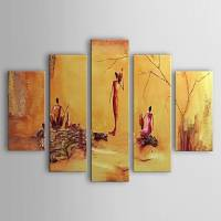 Hand-painted Oil Painting People Set of 5 1302-PE0212