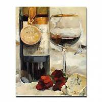 Hand-painted Still Life Oil Painting with Stretched Frame 20 x 24