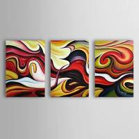 Hand Painted Oil Painting Abstract Set of 3 with Stretched Frame 1307-AB0603