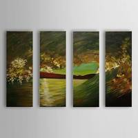 Hand Painted Oil Painting Landscape Sea with Stretched Frame Set of 4 1306-LS0328