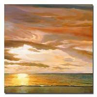 Hand-painted Landscape Oil Painting with Stretched Frame 24 x 24