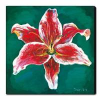 Hand-painted Oil Painting Floral 24 x 24 Square