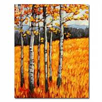 Hand-painted Landscape Oil Painting with Stretched Frame 20 x 24