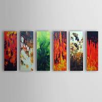 Hand Painted Oil Painting Abstract Set of 6 1303-AB0406