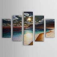 Hand Painted Oil Painting Landscape Sea Set of 5 with Stretched Frame 1307-LS0114