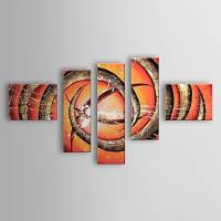 Hand Painted Oil Painting Abstract Set of 5 1303-AB0411
