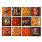 Hand-painted Animal Oil Painting with Stretched Frame - Set of 12