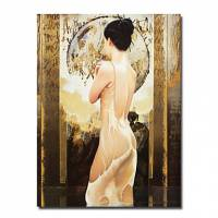 Hand-painted People Oil Painting with Stretched Frame 24 x 36