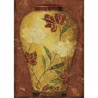 Printed Art Still Life Asian Vases I by Sparx Studio