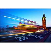 Printed Art Landscape London Big Ben by Nina Papiorek