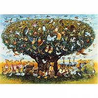 Printed Art Animal Noah And The Birds by Bill Bell