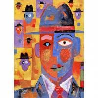 Printed Art People Hat Men by Jim Dryden