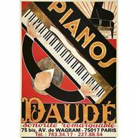 Printed Art Still Life Daude Pianos by Vintage Posters