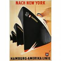 Printed Art Nach New York Hamburg-Amerika Linie by Vintage Posters