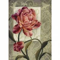 Printed Art Floral Red 1 by Lisa Audit