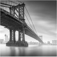 Printed Art Landscape Manhattan Bridge 1 by Moises Levy