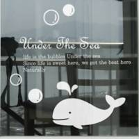Whale Decorative Wall Sticker(0565-1105082)