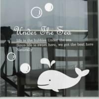 Whale Decorative Wall Sticker(0565-1105082)
