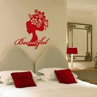 Flower Decorative Wall Sticker(0565-1105099)