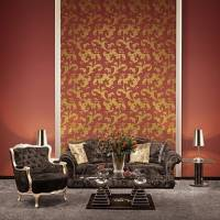 Contry Flying Leaves PVC Wall Paper