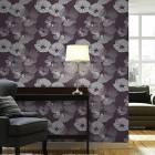Modern Flower PVC Wall Paper