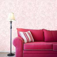 Country Flower Petals PVC Wall Paper